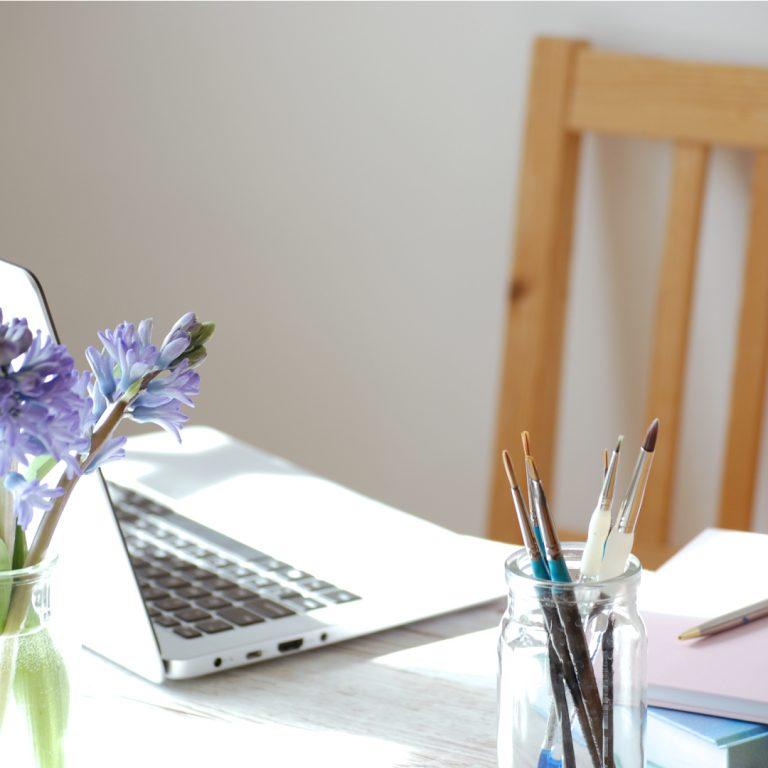 Kerri Awosile art writing design creative desk workspace studio artist writer designer illustrator painter UK