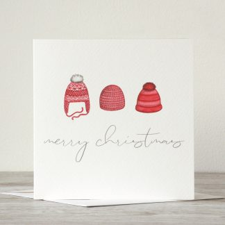 Winter Hats Christmas card by UK artist and designer, Kerri Awosile