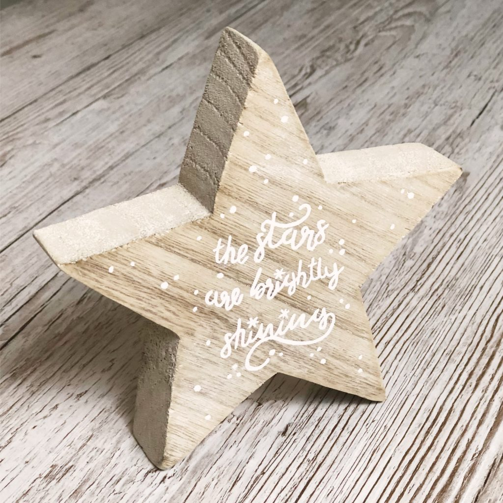 The stars are brightly shining DIY Christmas decoration tutorial on Kerri Awosile's blog
