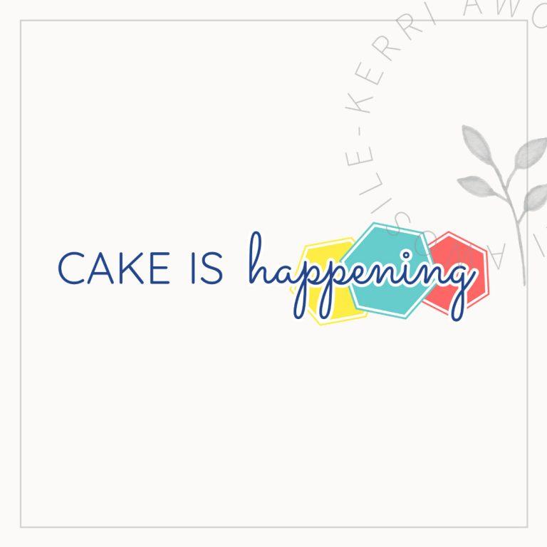cake is happening logo branding design by Kerri Awosile artist, writer, designer in the UK