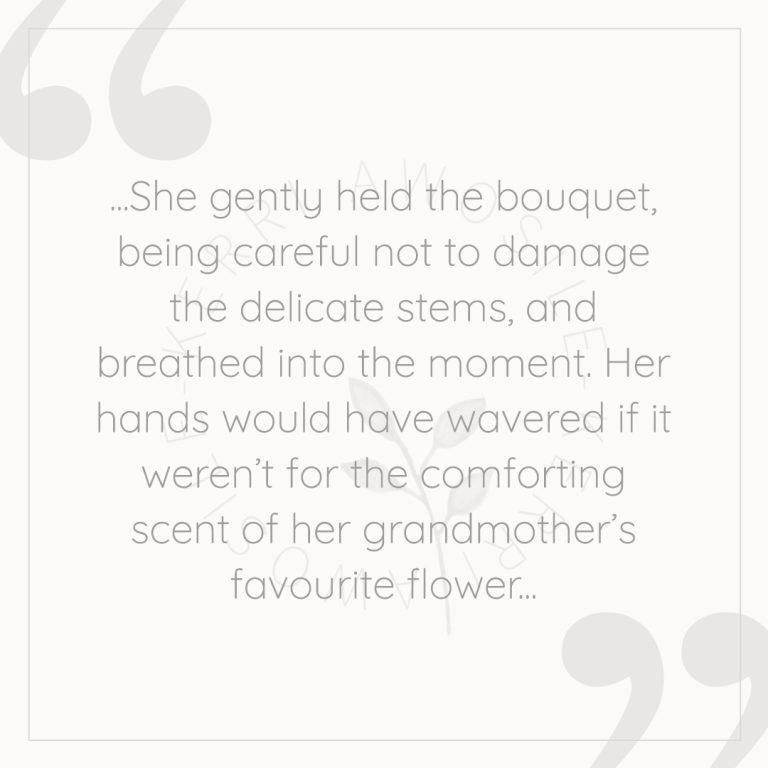 creative writing wedding short story snippet by Kerri Awosile artist, writer, designer in the UK