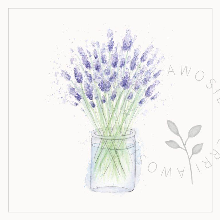 loose lavender watercolour artwork by Kerri Awosile artist, writer, designer in the UK