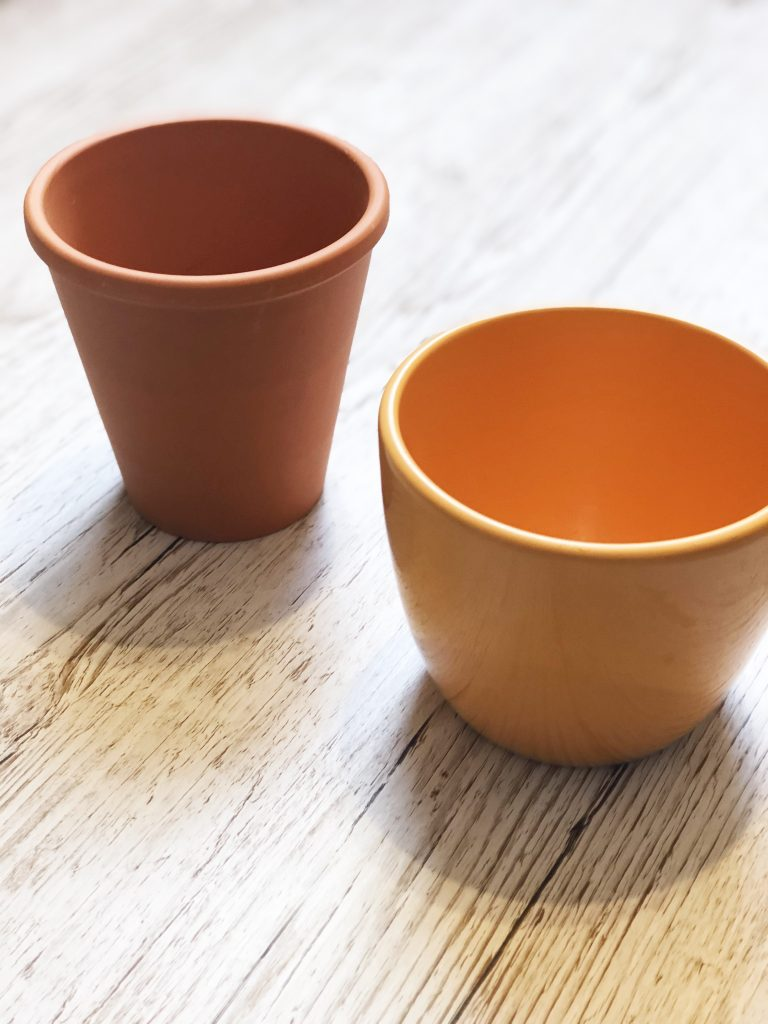 plant pots for creative project by Kerri Awosile UK