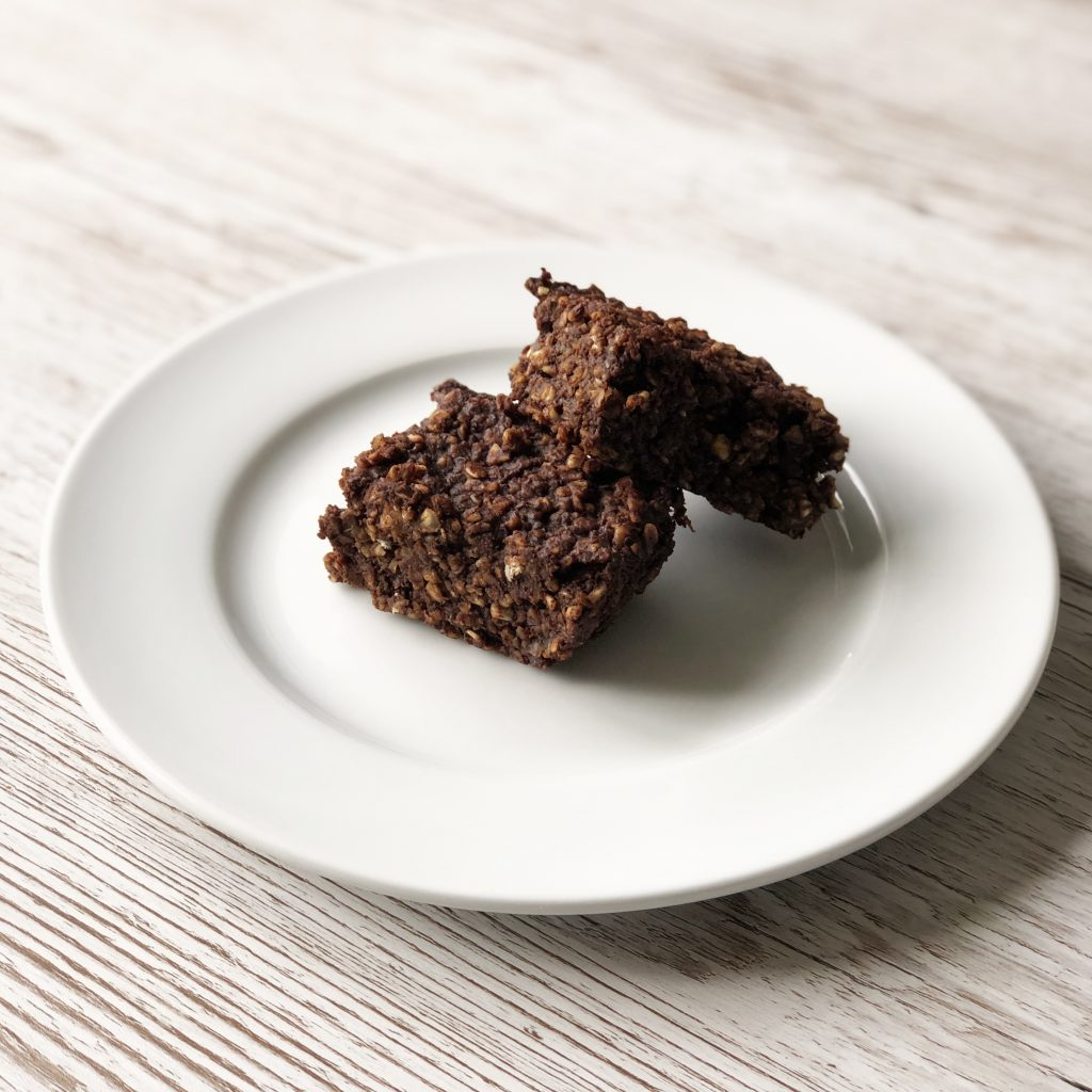 plant based chocolate oat squares by Kerri Awosile