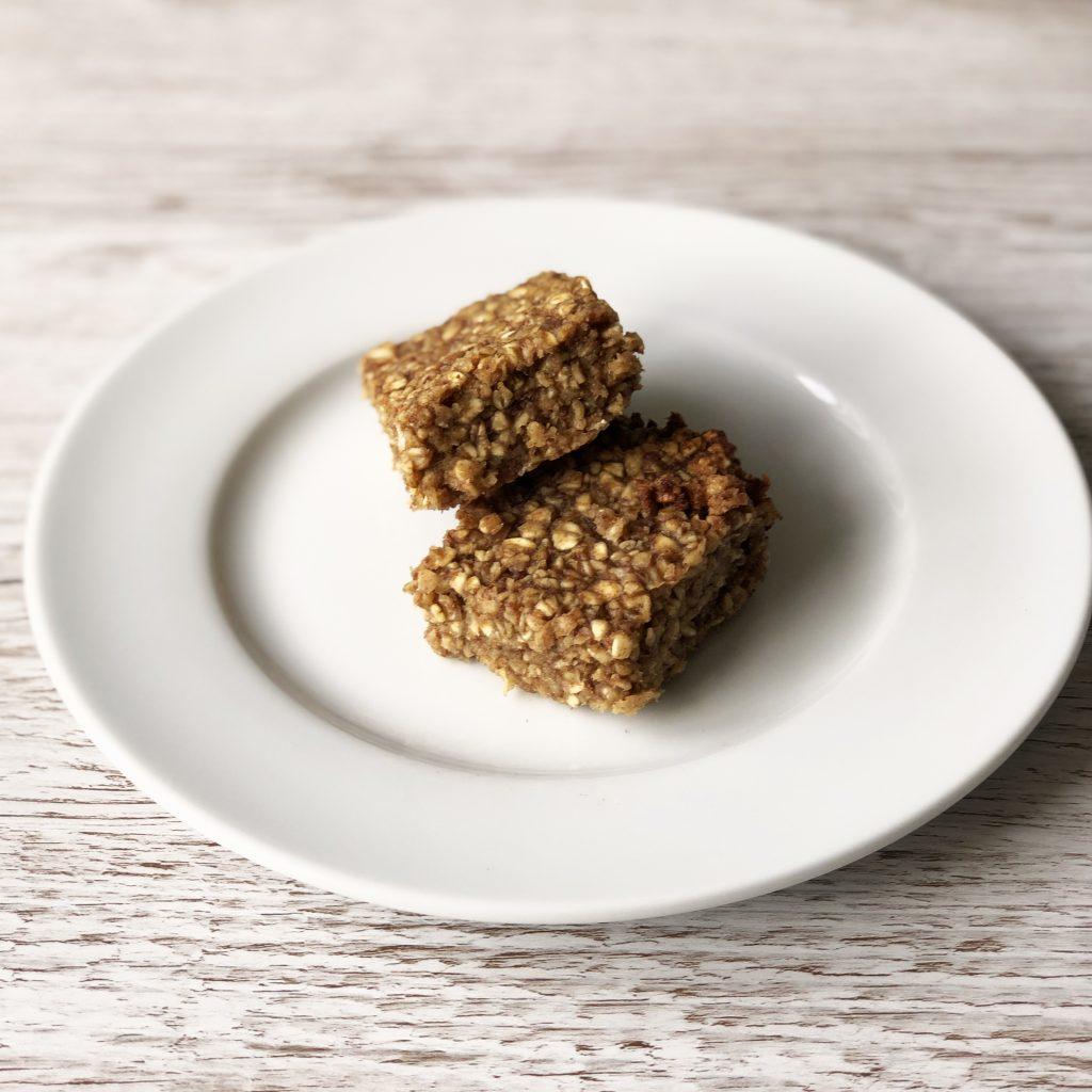 Healthy, vegan, wheat free, dairy free, egg free, gluten free, oat squares recipe by Kerri Awosile UK