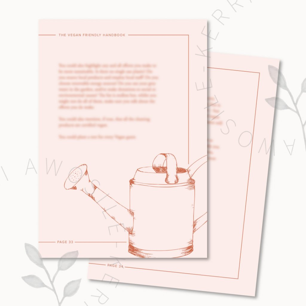 Stylish and on-brand pdf design with bespoke illustrations by Kerri Awosile UK