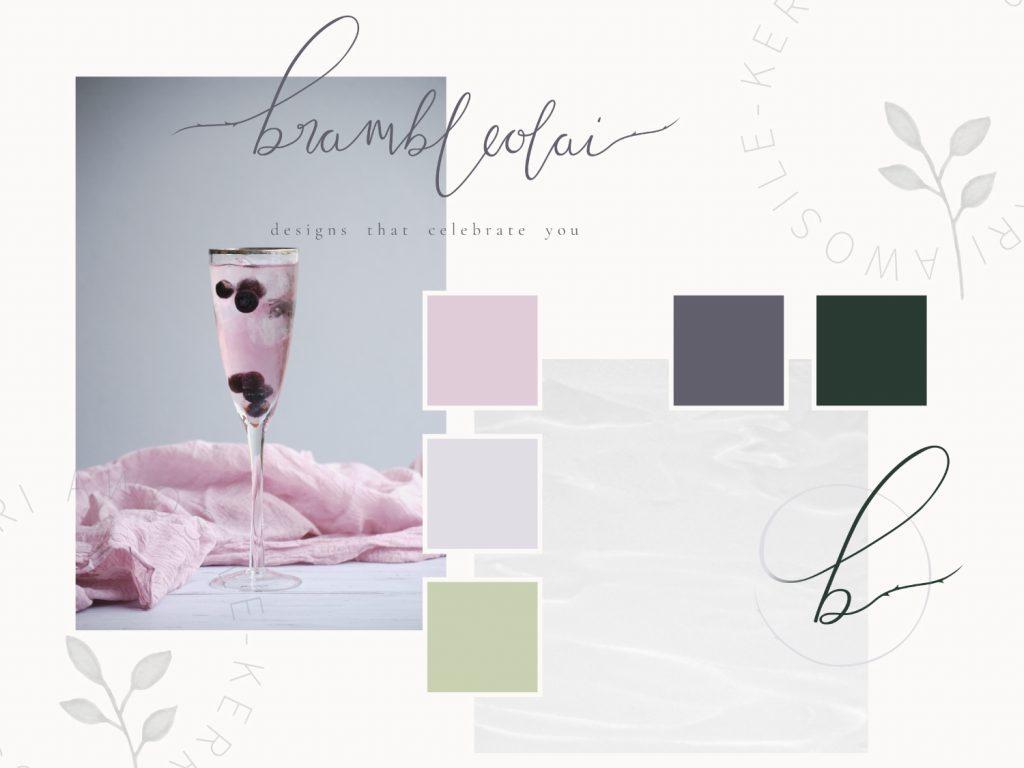 Branding design example by UK designer for small businesses Kerri Awosile