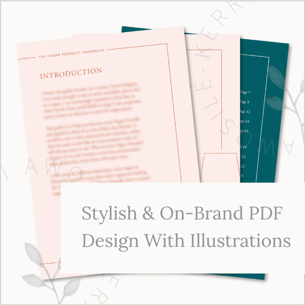 Stylish & On-Brand PDF Design Example With bespoke illustrations by UK artist and graphic designer Kerri Awosile