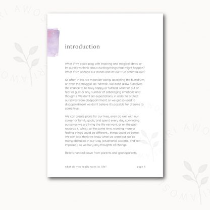 What do you really want in life? by Kerri Awosile - sneak peek at Introduction page