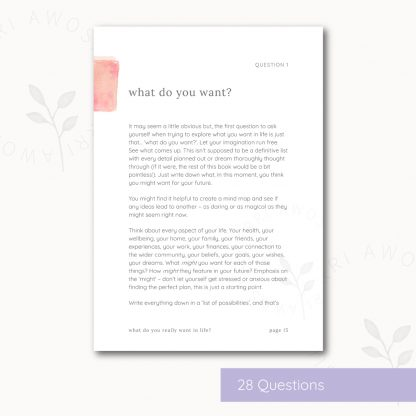 What do you really want in life? by Kerri Awosile - sneak peek at question 1