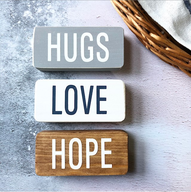 Little Stag Signs of Hugs Love Hope
