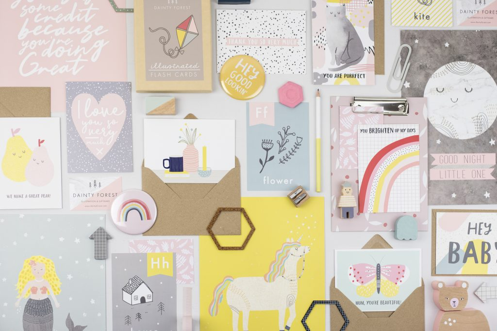 Products by Emma Rees of Dainty Forest