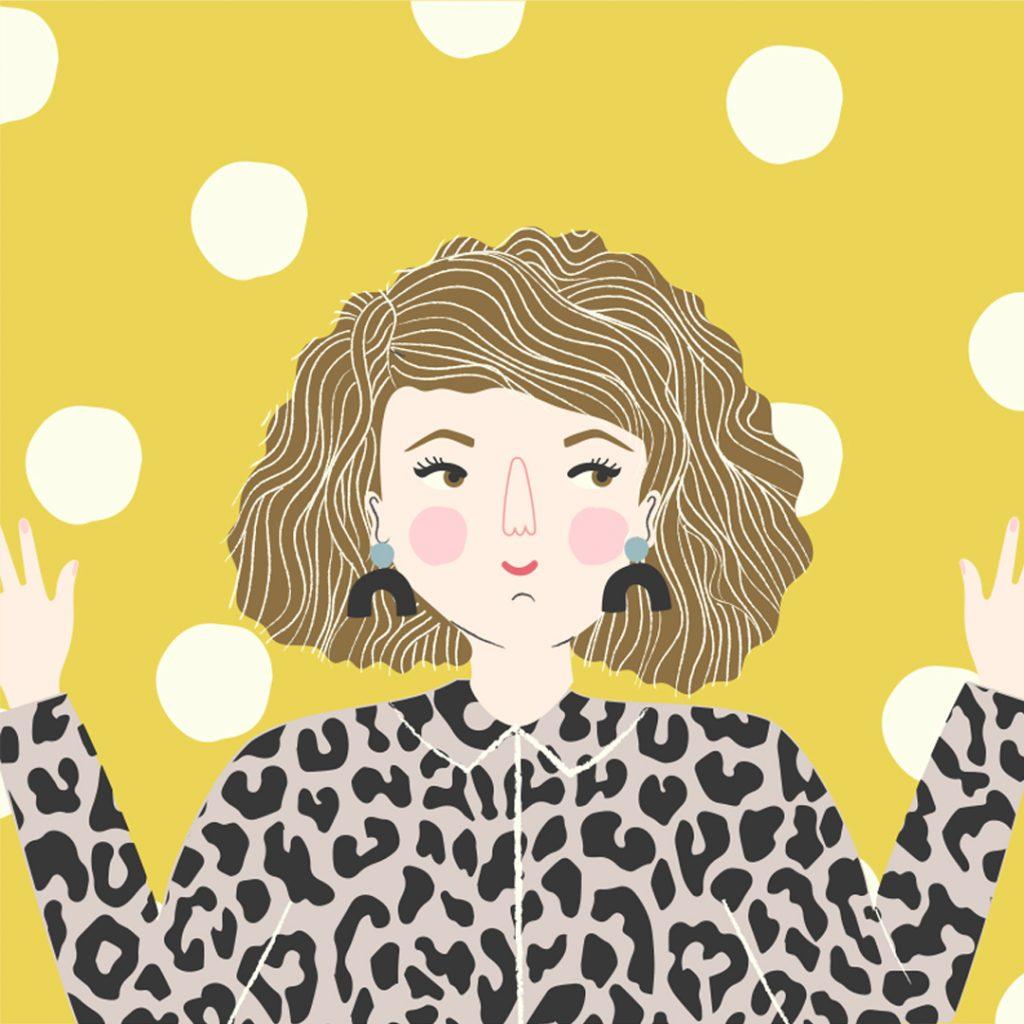 Emma Rees self-portrait for Kerri Awosile's Creative Business blog