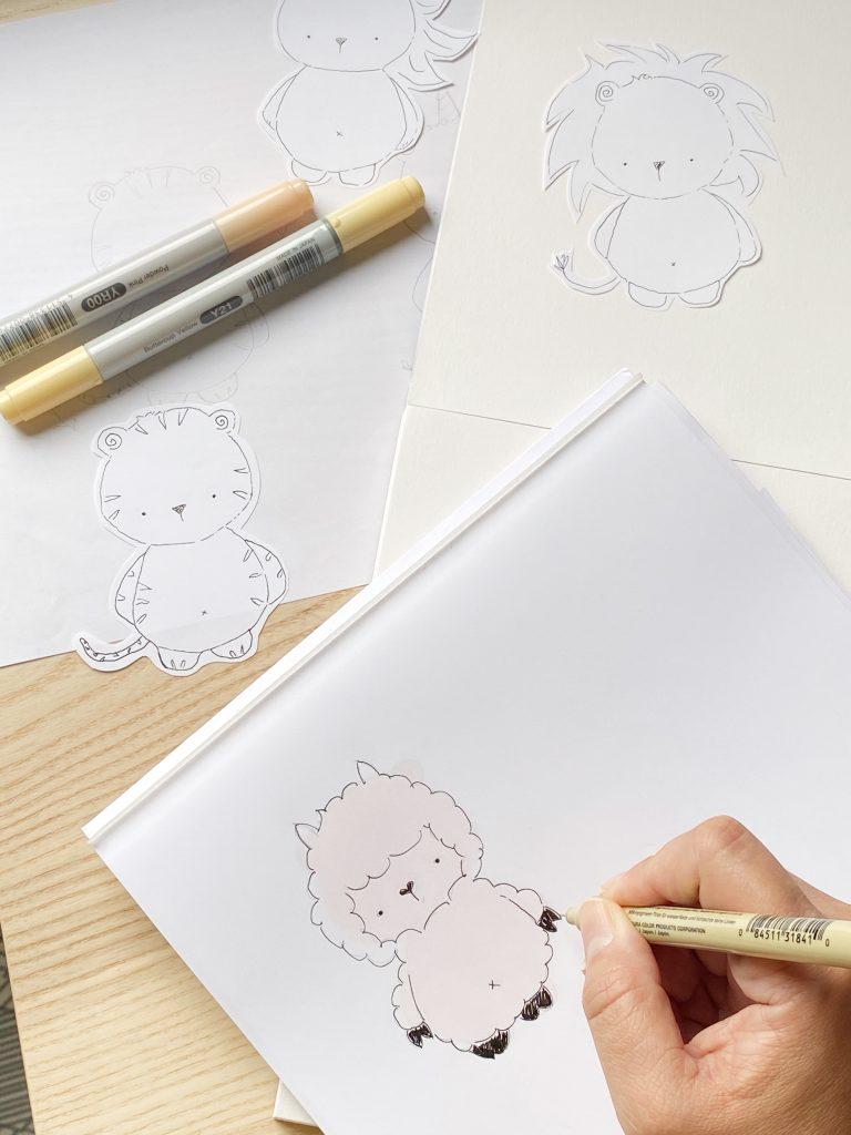 Caro Montiel of Fox Bear Studio being creative with her work