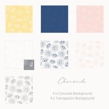 chamomile patterns by Kerri Awosile