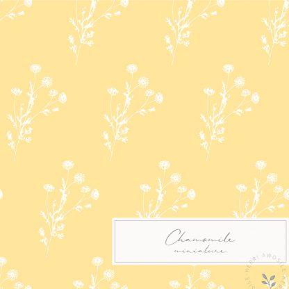 British Wildflowers downloadable illustrations and patterns bundle by Kerri Awosile - miniature chamomile pattern