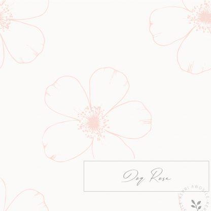 Dog Rose Pattern by Kerri Awosile