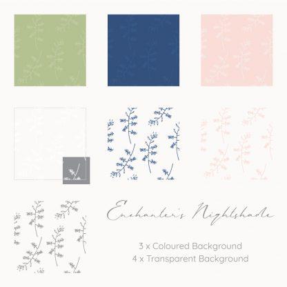 Enchanter's Nightshade patterns by Kerri Awosile