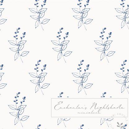 British Wild Flowers Enchanter's Nightshade pattern by Kerri Awosile