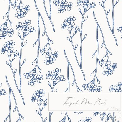Forget Me Not Pattern by Kerri Awosile