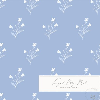 British Wild Flowers Forget Me Not pattern by Kerri Awosile