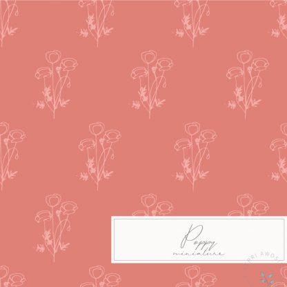 British Wild Flowers Poppy pattern by Kerri Awosile
