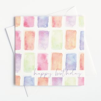 Colourful watercolour birthday card by Kerri Awosile