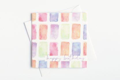 Colourful watercolour birthday card by Kerri Awosile