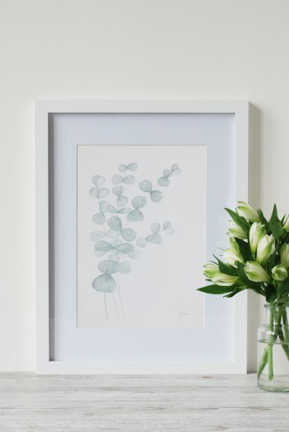 Eucalyptus art print by UK artist, Kerri Awosile