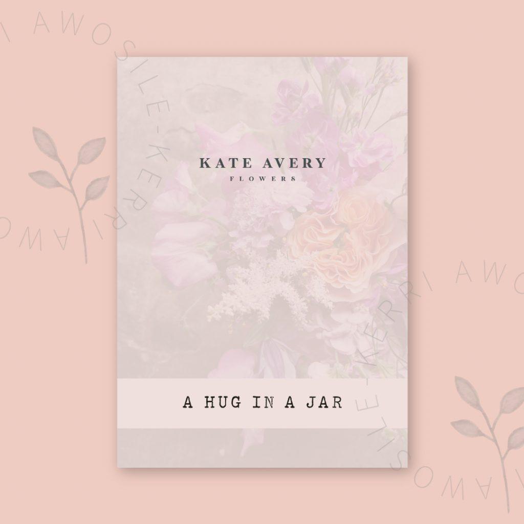 Alternative Cover design for Kate Avery Flowers' Hug in a jar PDF by Kerri Awosile
