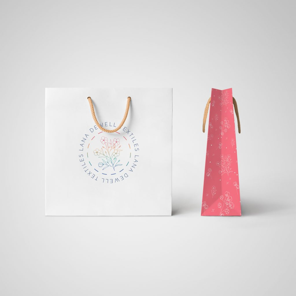 Store bags for Lana Dewell Textiles by Kerri Awosile