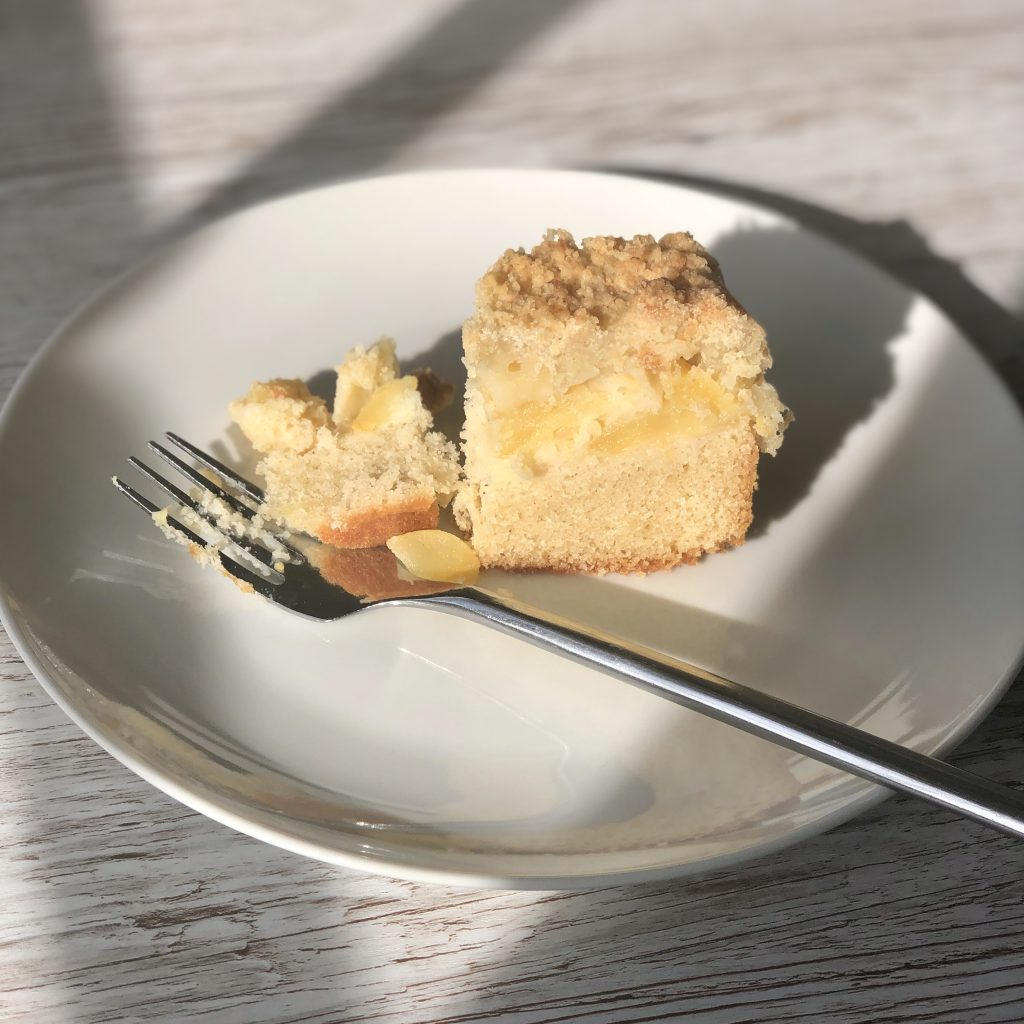 Apple crumble cake slice by Kerri Awosile