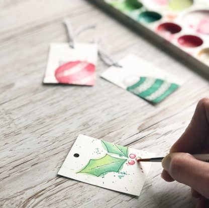 photo of Christmas gift tag examples by Kerri Awosile