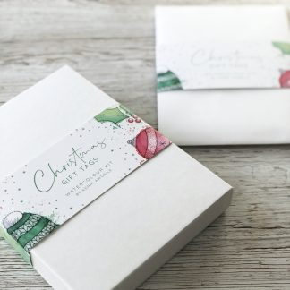 Christmas Gift Tags Watercolour kits by Kerri Awosile