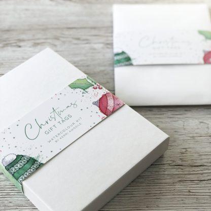 Christmas Gift Tags Watercolour kits by Kerri Awosile