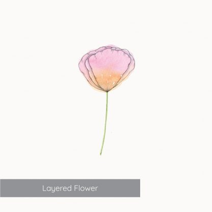 Example of Layered Flower from Kerri Awosile Simple Flowers Watercolour Kit