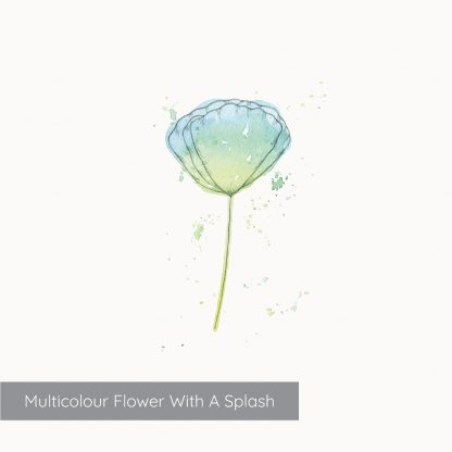 Example of Multicolour Flower with a splash from Kerri Awosile Simple Flowers Watercolour Kit