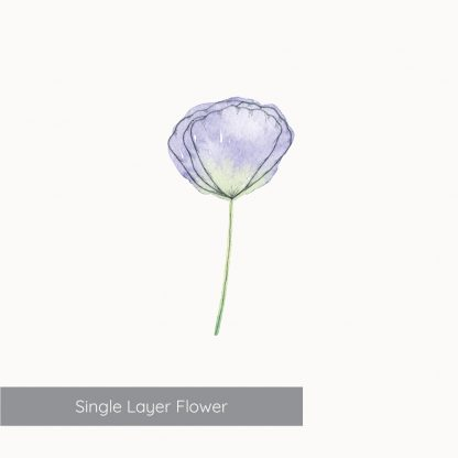 Example of Single Layer Flower from Kerri Awosile Simple Flowers Watercolour Kit