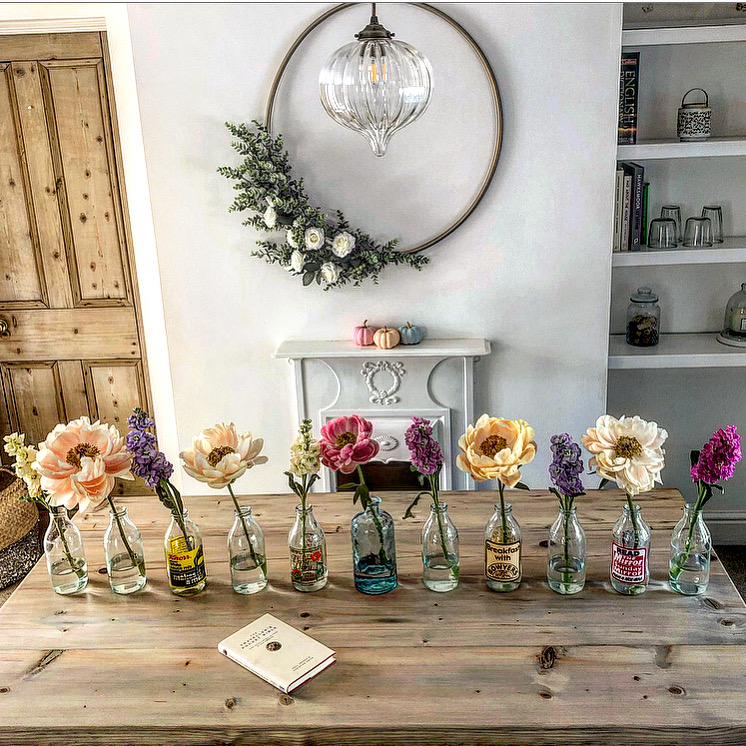 Clare's Country Cottage Table with Flowers and Styling