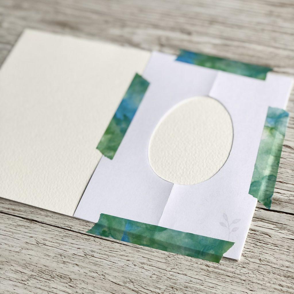 Easter Egg template on card