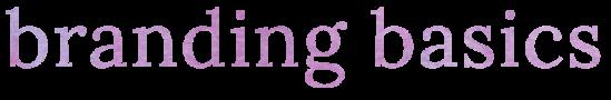 branding basics design title