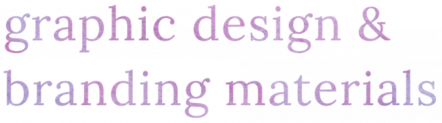 graphic design and branding materials title